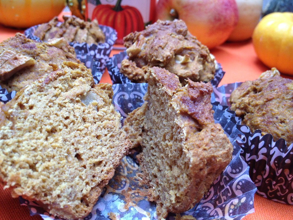 Moist Pumpkin Apple Struesel Muffins
