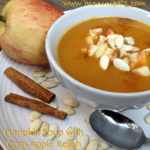 Pumpkin-Apple Soup with Cran-Apple Relish
