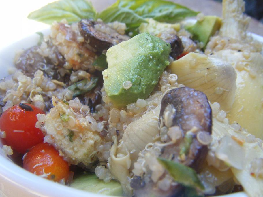 Quinoa with Asparagus, Mushrooms, Avocado and Basil ...
