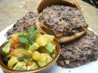 Black Bean Burgers with Mango Salsa