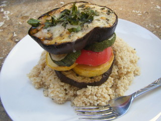 Grilled Veggie Stack with Basil