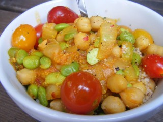 """Spring"" Chickpea Chili with Couscous"