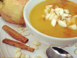 Pumpkin Soup with Cran-Apple Relish