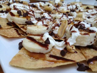 "Moni's ""Lighter"" Dessert Nachos"