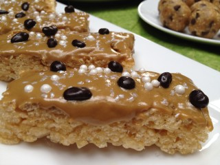 Healthier Nut Butter Brown Rice Crispy Bars