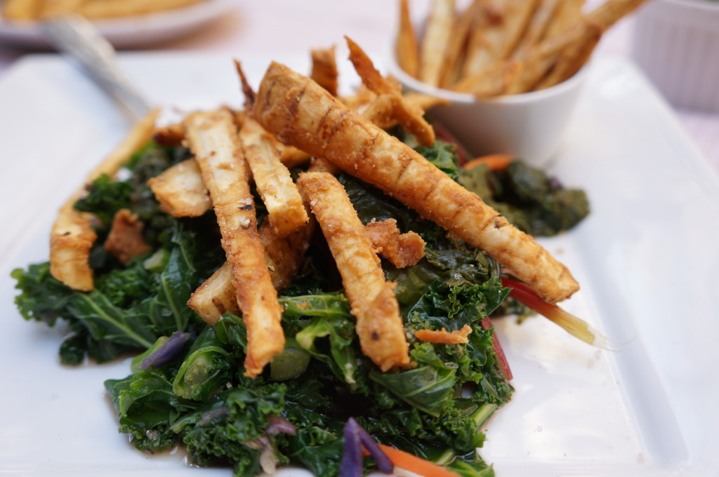 Kale Salad with Parsnip Fries