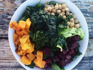 Butternut Squash, Chickpea and Beet Salad