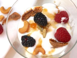 Yogurt Parfaits With Dried Figs, Berries and Nuts