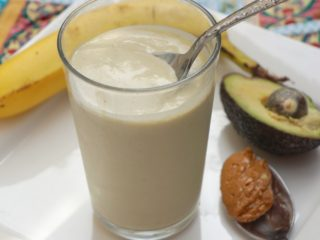 Peanut Butter, Banana, Avocado Smoothie