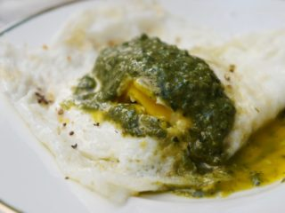 Homemade Pesto and Egg