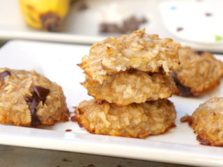 Two Ingredient Coconut Banana Cookies