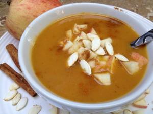 Pumpkin Soup with Apple Cran-Relish