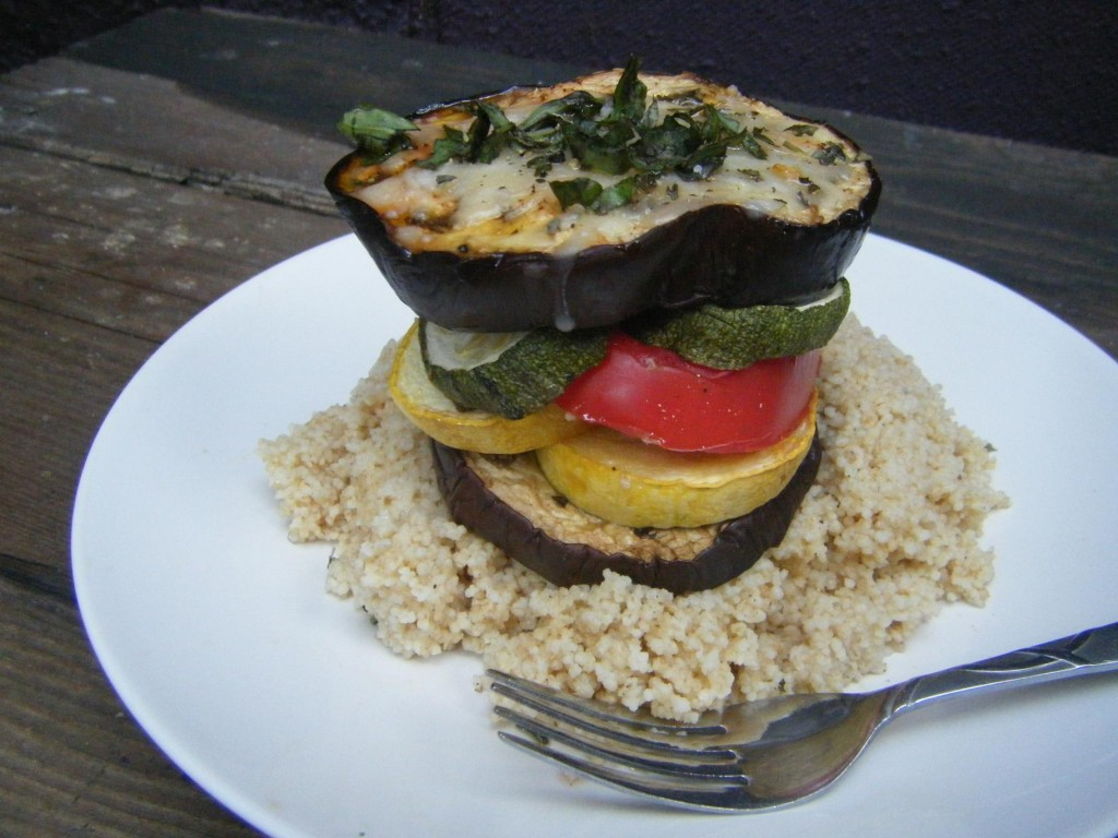 Grilled Summer Stack with Cous Cous