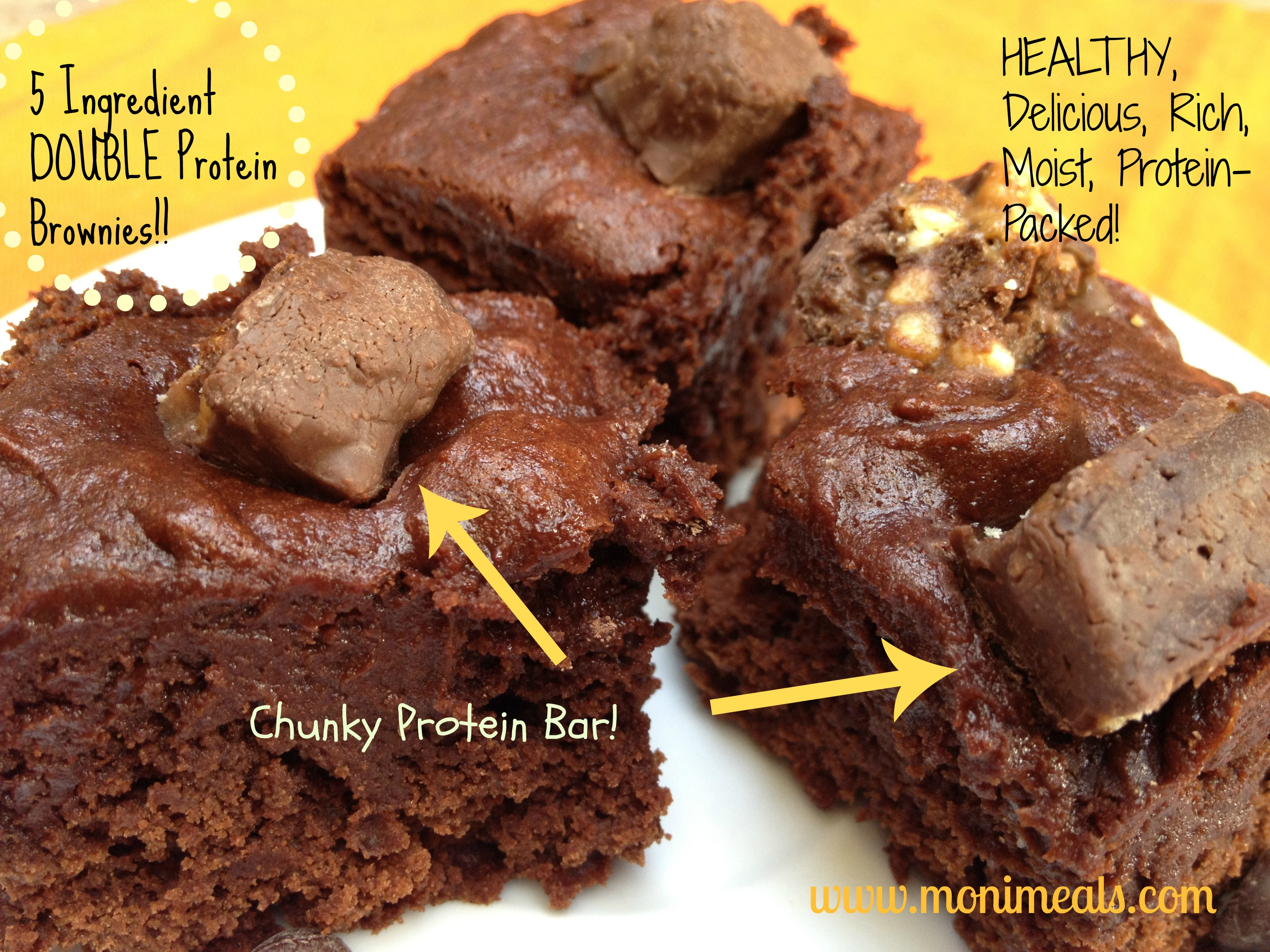 Double Protein Brownies