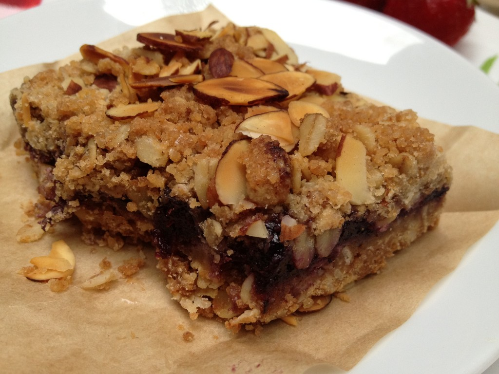 Blueberry Oatmeal Almond Squares